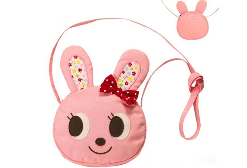 小兔子粉色斜背包
