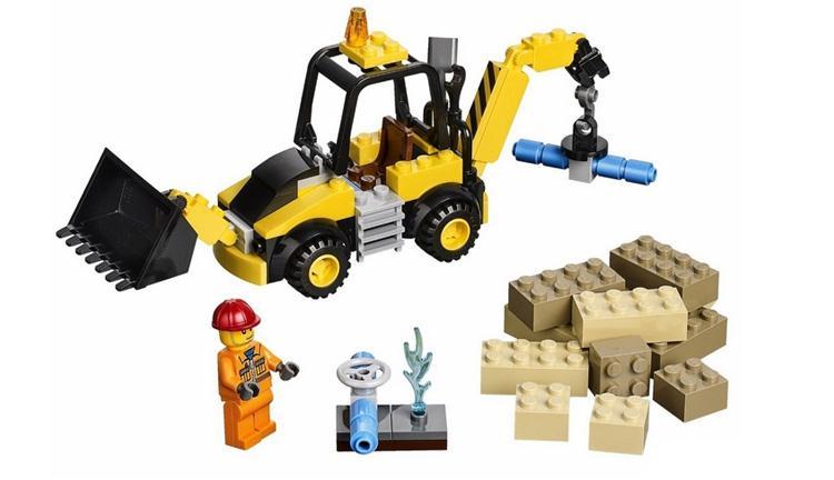 新款正品乐高lego儿童拼装积木玩具小拼砌师小型挖掘机10666