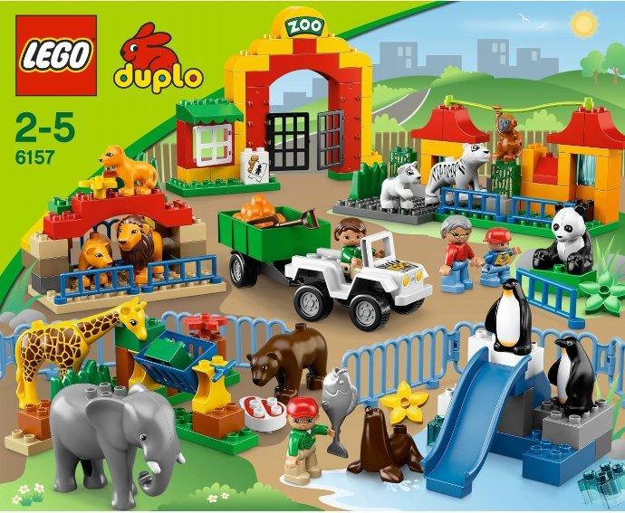 乐高积木lego 大型动物园 6157 大颗粒 2-5岁