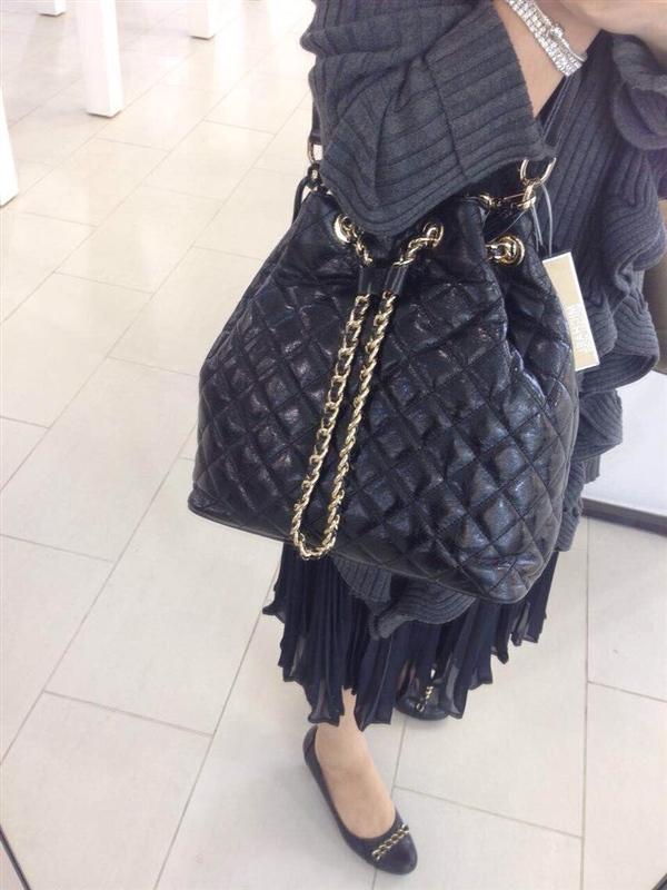 黑色 链条包