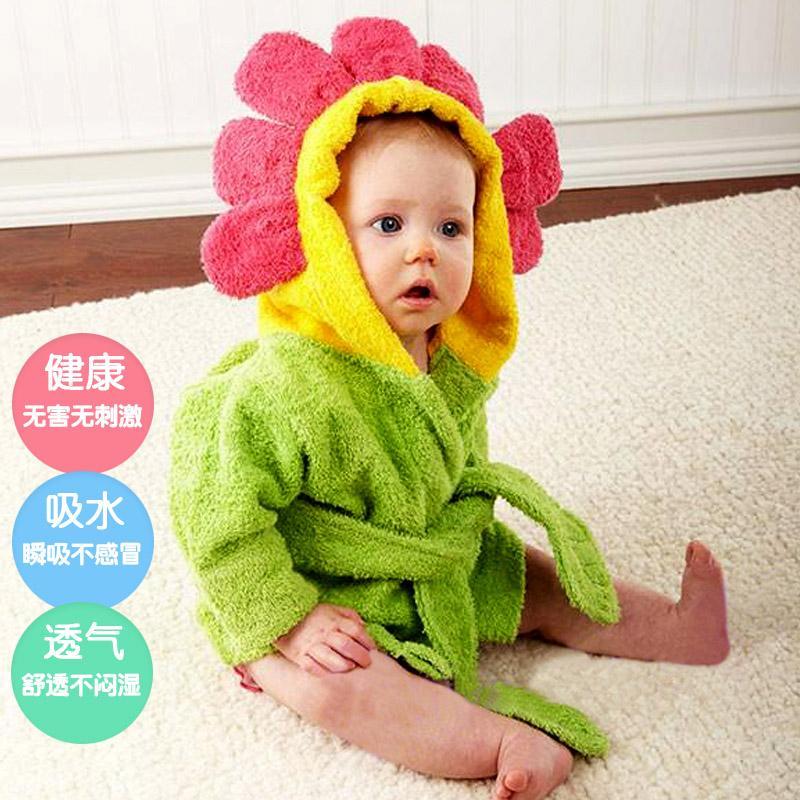 美国baby aspen 宝宝浴袍带帽秋冬 婴儿新生儿浴巾 纯棉儿童斗篷