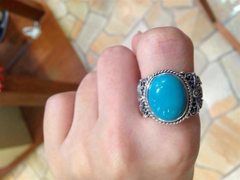 15号绿松石戒指图片