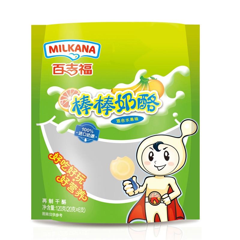 百吉福milkana-棒棒奶酪水果味120克*2包 儿童成长奶酪