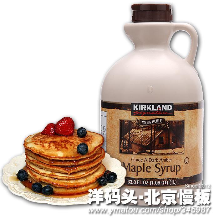 syrup纯天然枫叶树糖浆枫糖浆1l