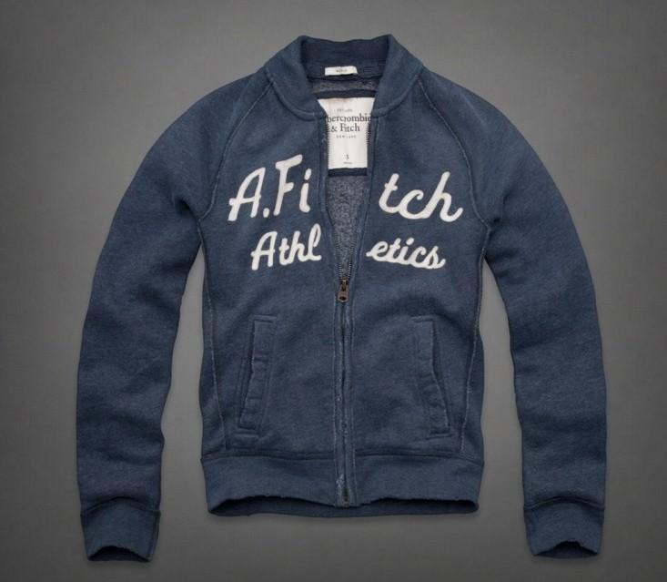 美国现货Abercrombie&Fitch AF男式棒球做旧卫衣Fish Hawk Cliff