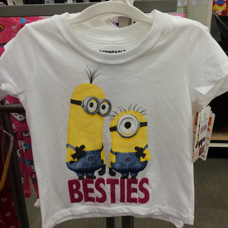小黄人 白色t恤