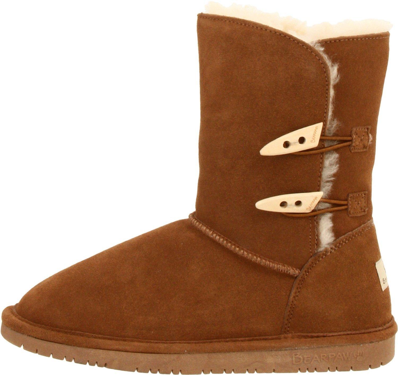 【专柜正品bearpaw熊掌木扣雪地靴】美国代购-男装