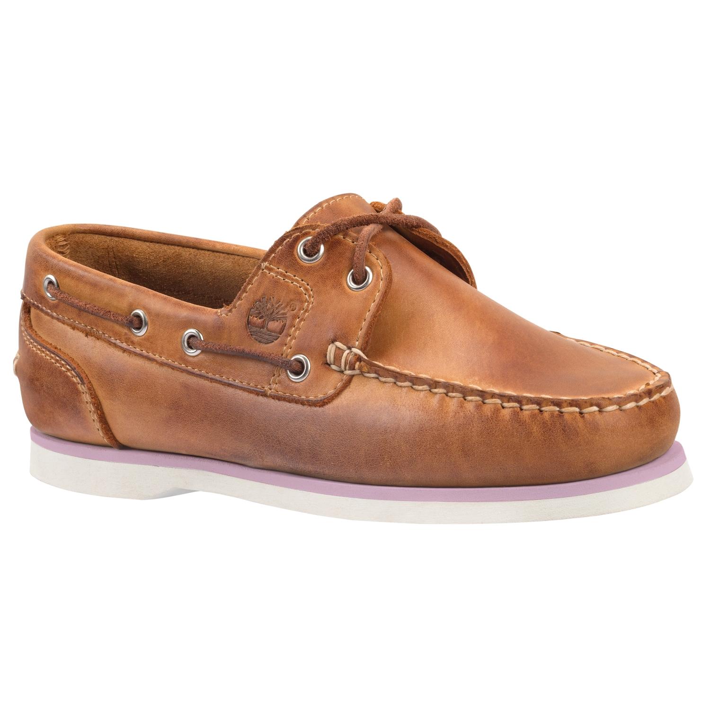 新款女士纯皮帆船鞋