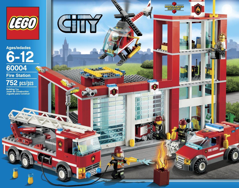 乐高城市积木玩具lego消防局益智l60004消防总局