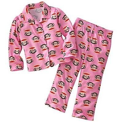 大嘴猴美国正品超可爱儿童长袖睡衣套装
