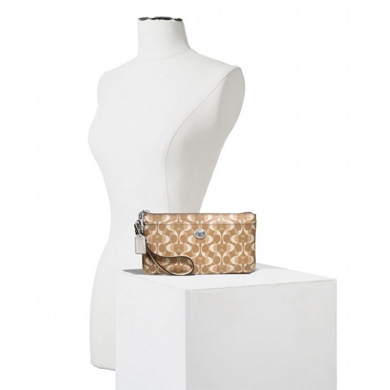 美国直邮 coach蔻驰2014新款经典图案长款女钱包 手腕