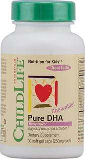 包美国直邮!ChildLife 童年时光 纯DHA咀嚼胶囊 眼脑发育90粒
