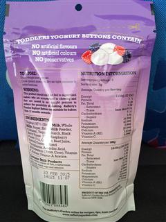Rafferty's Garden酸奶有机混合果莓溶溶豆/含益生菌 28g