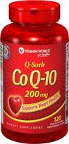 免运费包美国直邮vitamin world顶级高含量辅酶COQ10 200mg120粒