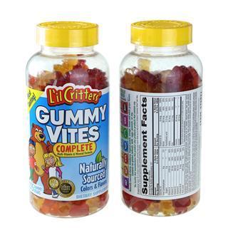 美国直邮 L'il Critters熊宝宝小熊糖复合综合维生素软糖275粒
