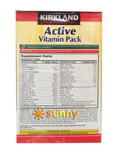 免运费!美国直邮 Kirkland 每日综合维生素+矿物质 100袋