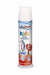 Aquafresh儿童三效防蛀牙膏(含氟)预防龋齿 130.4g