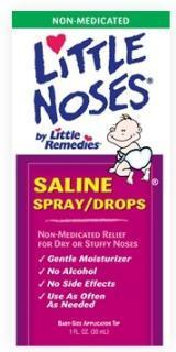 Little Noses 盐水滴鼻剂 喷雾滴剂2合1安全缓解宝宝鼻塞30mll