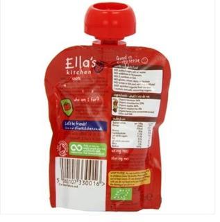 英国Ella''s Kitchen 有机混合水果泥 2段 100g 英国直邮