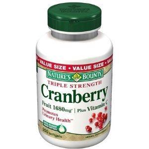 Nature's Bounty 纯天然三倍浓缩蔓越莓精华/VC, 250软胶囊
