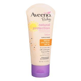 美国直邮 美国医师推荐Aveeno Baby 超温和婴幼儿儿童防晒霜SPF55