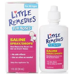 Little Noses 生理盐水滴鼻剂 喷雾滴剂2合1 温和缓解宝宝鼻塞