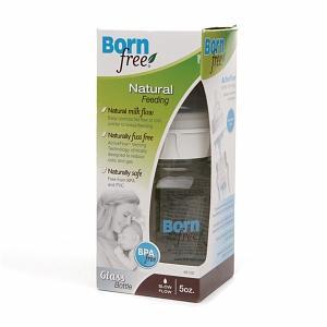 包美国直邮!新版Born free宽口玻璃奶瓶防胀气 5oz/160ml 0-3个月