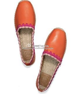Tory Burch 渔夫鞋 白色/橙色