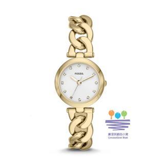 美国直邮包邮包税 Fossil ES3391 浅金螺纹型表带 小表盘女式手表