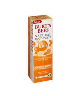 美国Burt's Bees小蜜蜂天然儿童含氟防蛀牙膏橘子味110克