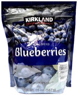 【代购直邮】Kirkland Dried Blueberries柯蓝顶级蓝莓干567克