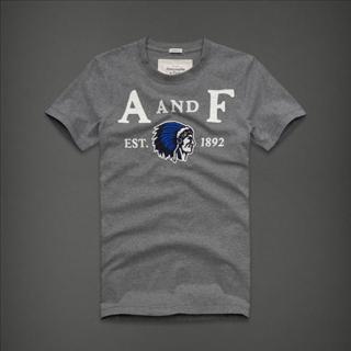 美国正品 Abercrombie & Fitch AF 男装 圆领TEE T恤 经典刺绣图