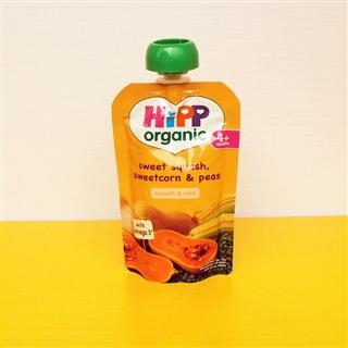 英国Hipp喜宝果泥 南瓜+甜玉米+豌豆 4个月+ 100g 英国直邮