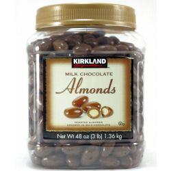 免运费!包美国直邮!Kirkland 杏仁牛奶巧克力 1360g