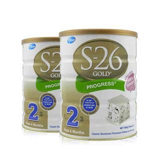 澳洲直邮 新西兰原装进口惠氏金装婴儿牛奶粉2段S26 900克*2罐装