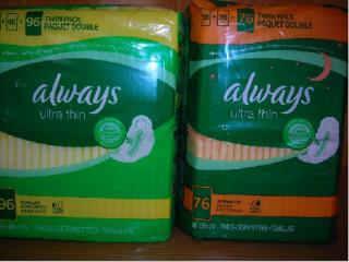 美国代购的always 超薄护翼卫生巾 (日用 夜用)双包装 86Film