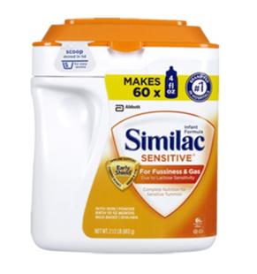 美国直邮 Similac Sensitive雅培一段(防过敏、胀气)敏感婴儿奶