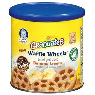 美国直邮 Gerber嘉宝 泡芙条婴幼儿辅食零食 香蕉奶油味 42g