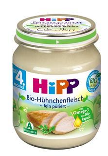 德国原装Hipp 喜宝 辅食 有机鸡肉泥 4月+ 125g 肉泥