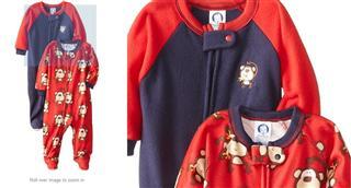 美国直邮 Gerber【嘉宝】婴儿秋冬抓绒侧拉链长袖连体衣 男女