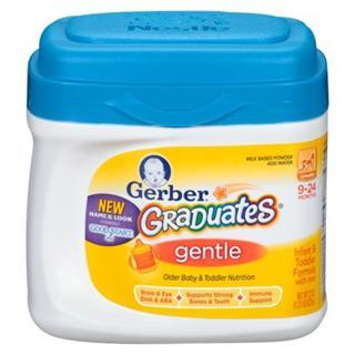 三桶包邮 Gerber嘉宝二段温和配方奶粉 9-24个月 623克
