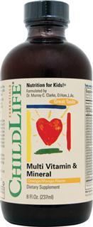 包美国直邮!ChildLife童年时光23种维生素矿物质补充液237ml