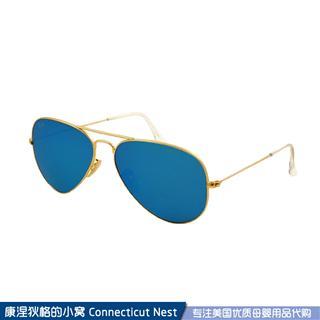 【美国直邮】 包邮包税Ray Ban/RayBan雷朋RB3025 蓝色镜面太阳镜
