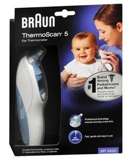 【代购直邮】包邮  博朗Braun 电子体温计IRT4520 耳温计/耳温枪