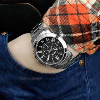 Fossil男表化石Grant不锈钢表带手表FS4736/FS4831 美国直邮代购