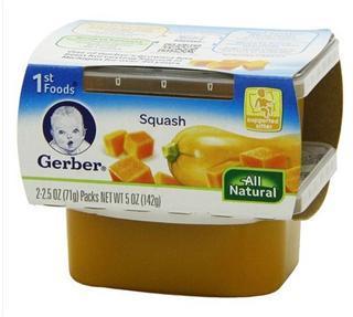 美国直邮嘉宝Gerber果泥1段 原装进口婴儿食品宝宝辅食 南瓜泥
