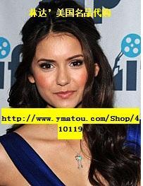 【美国代购】吸血鬼日记明星同款Tiffany Keys经典心形珐琅银项链