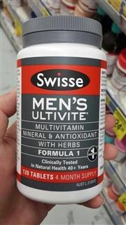 澳洲 Swisse Men's 25+男士复合维生素120粒