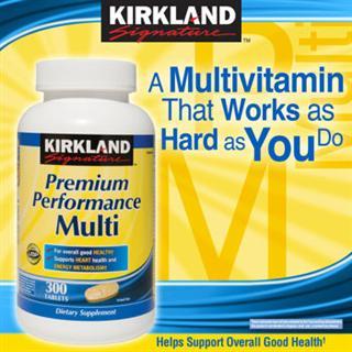 Kirkland 高效复合维生素和矿物质 300粒, 美国直邮