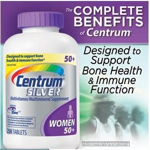 惠氏Centrum Silver 女性复合维生素善存银片50岁+女性维生素任意三件包运